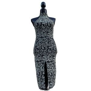 House of Harlow x Revolve lurex halter maxi dress